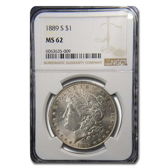 1889-S Morgan Dollar MS-62 NGC