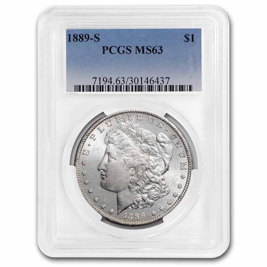 1889-S Morgan Dollar MS-63 PCGS