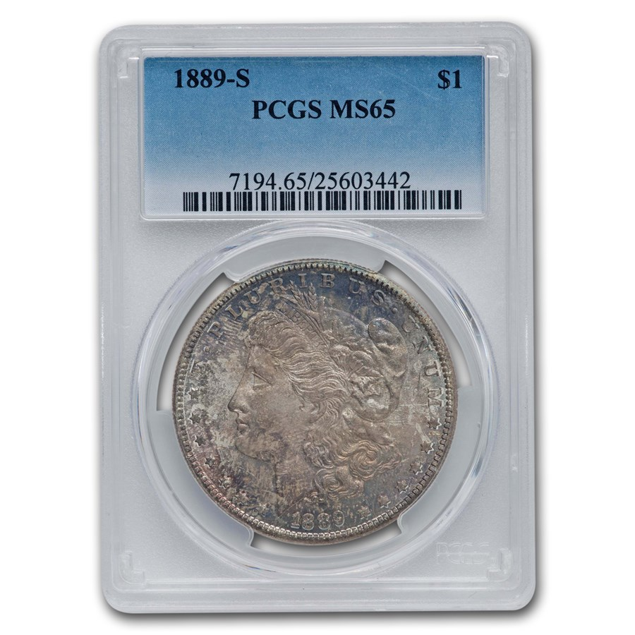 1889-S Morgan Dollar MS-65 PCGS (Toned)