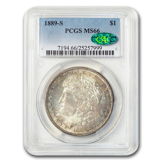 1889-S Morgan Dollar MS-66 PCGS CAC