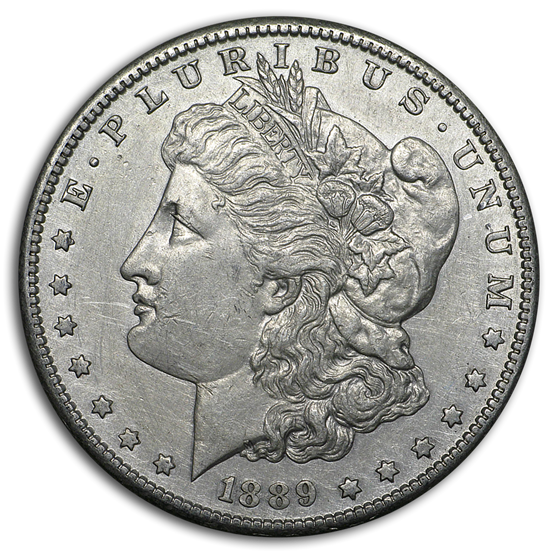 1889-S Morgan Dollar XF Details (Cleaned)