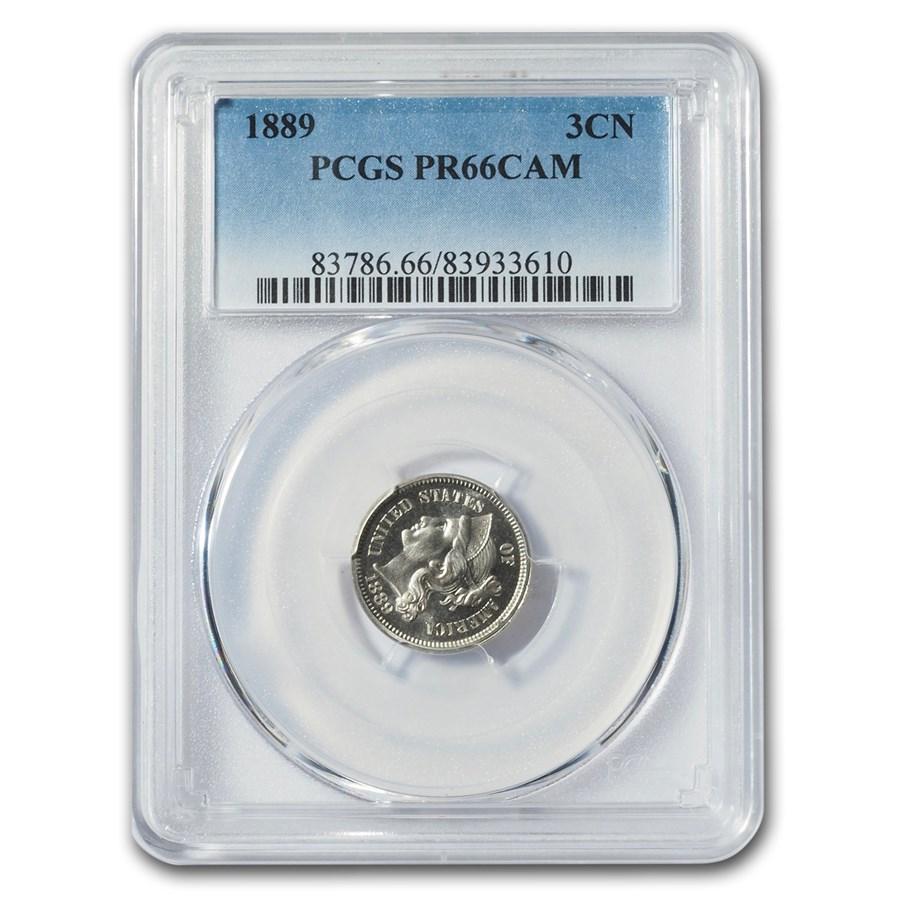 1889 Three Cent Nickel PR-66 Cameo PCGS