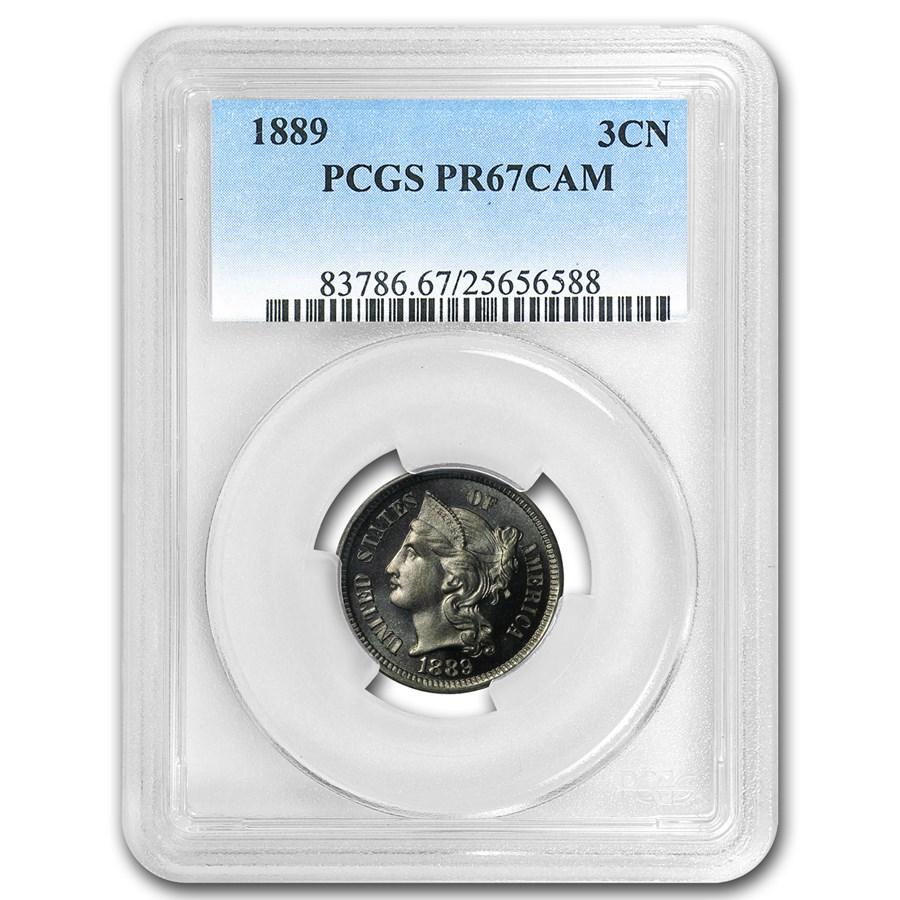 1889 Three Cent Nickel PR-67 Cameo PCGS