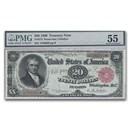 1890 $20.00 Treasury Note John Marshall AU-55 PMG