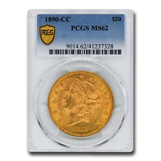 1890-CC $20 Liberty Gold Double Eagle MS-62 PCGS