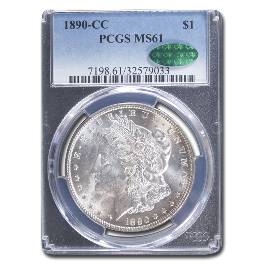 1890-CC Morgan Dollar MS-61 PCGS CAC