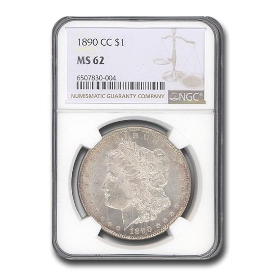 1890-CC Morgan Dollar MS-62 NGC