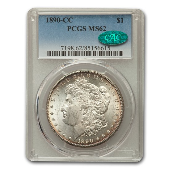 1890-CC Morgan Dollar MS-62 PCGS CAC