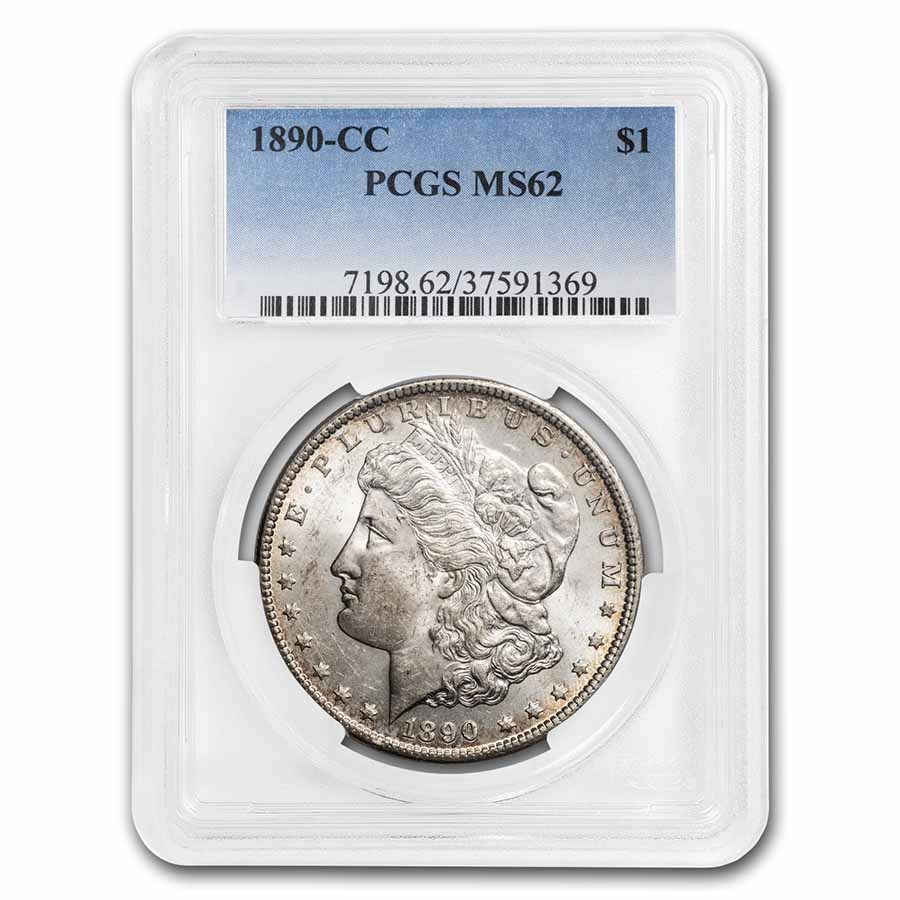 1890-CC Morgan Dollar MS-62 PCGS