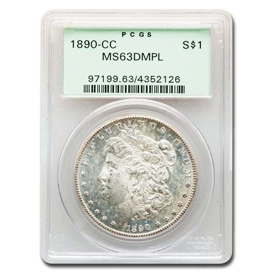 1890-CC Morgan Dollar MS-63 DMPL PCGS