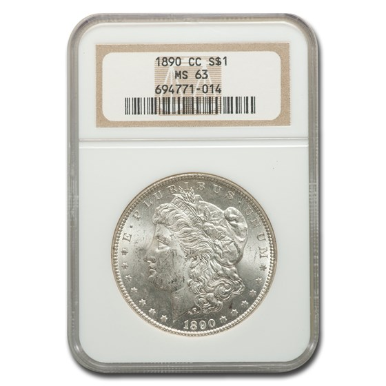 1890-CC Morgan Dollar MS-63 NGC