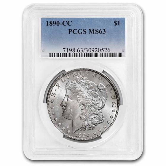 1890-CC Morgan Dollar MS-63 PCGS