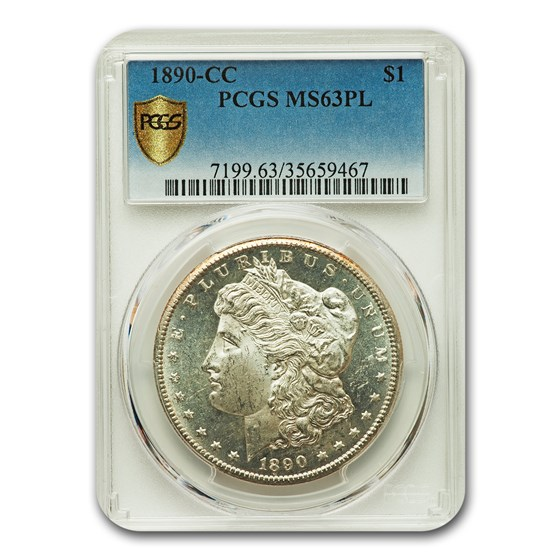 1890-CC Morgan Dollar MS-63 PL Proof Like PCGS