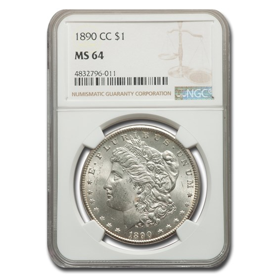 1890-CC Morgan Dollar MS-64 NGC