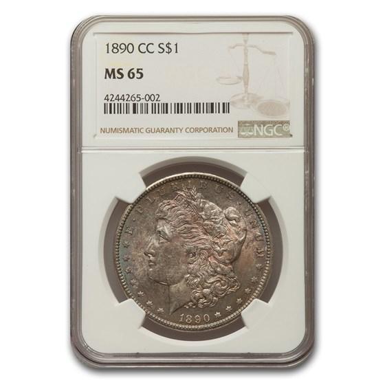 1890-CC Morgan Dollar MS-65 NGC