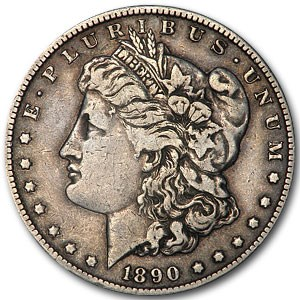 1890-CC Morgan Dollar VF (VAM-4, TailBar, Top-100)