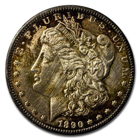 1890-CC Morgan Dollar XF Details (Cleaned)