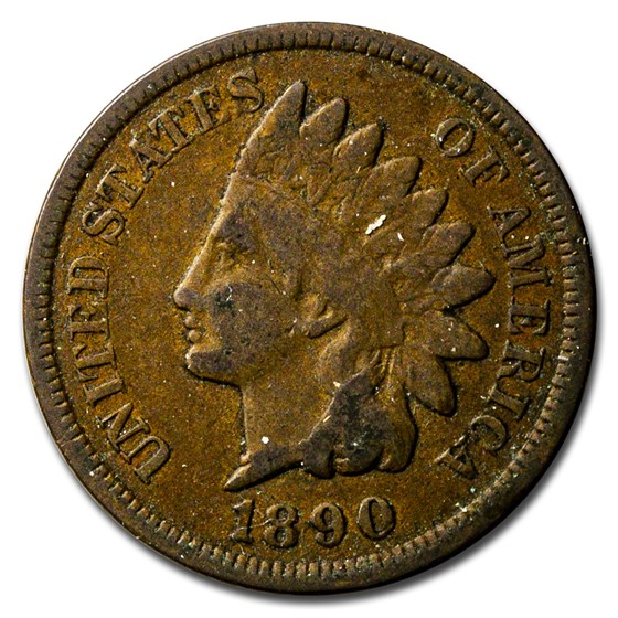 1890 Indian Head Cent Good+
