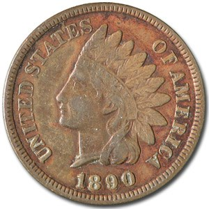 1890 Indian Head Cent XF
