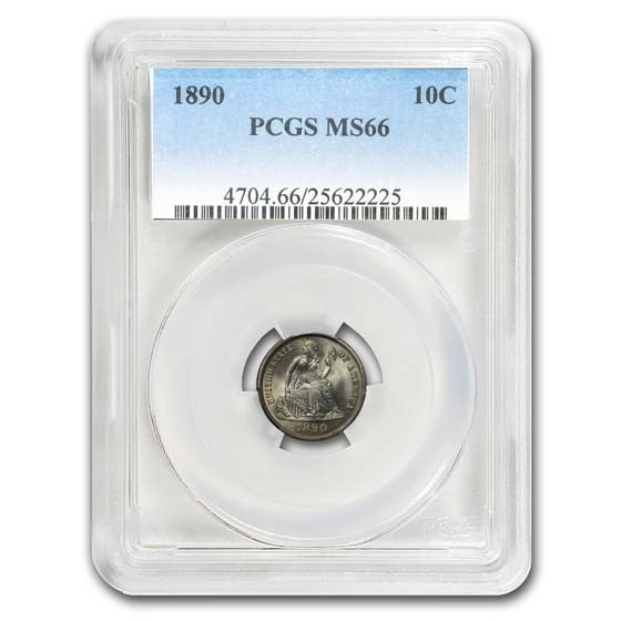 1890 Liberty Seated Dime MS-66 PCGS