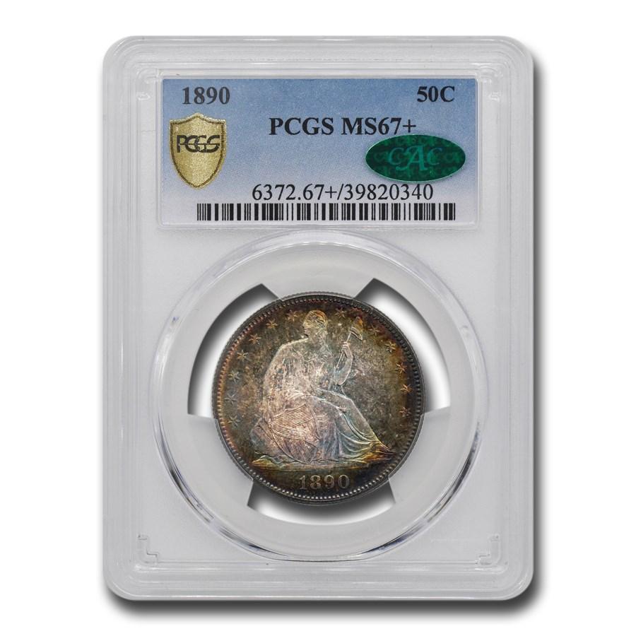 1890 Liberty Seated Half Dollar MS-67+ PCGS CAC