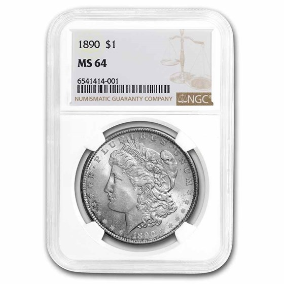 1890 Morgan Dollar MS-64 NGC