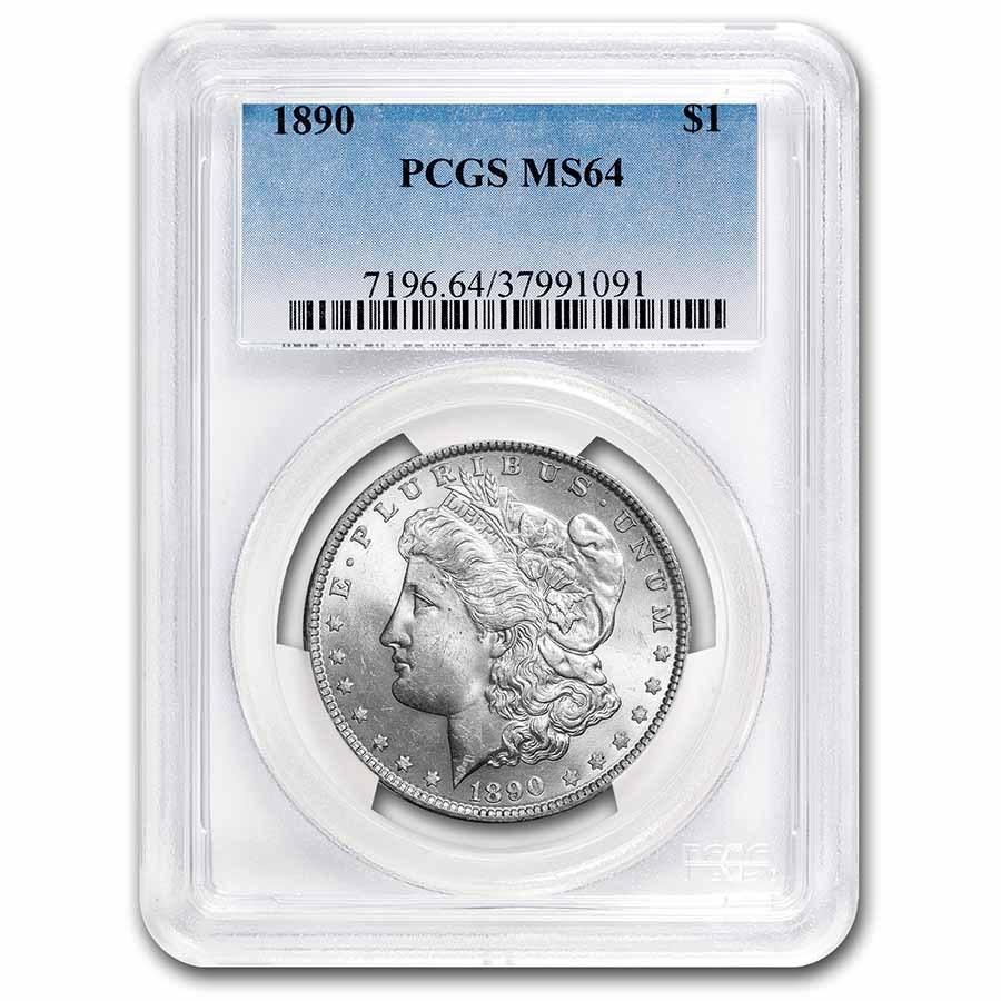 1890 Morgan Dollar MS-64 PCGS
