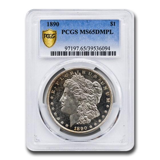 1890 Morgan Dollar MS-65 DMPL PCGS