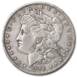 1890 Morgan Dollar XF