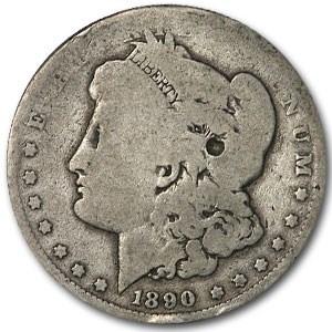 1890-O Morgan Dollar AG Details (Rotated Rev)