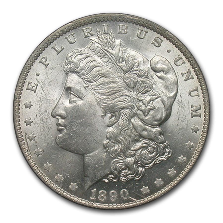 1890-O Morgan Dollar MS-62 PCGS (VAM-10 Comet Variety)
