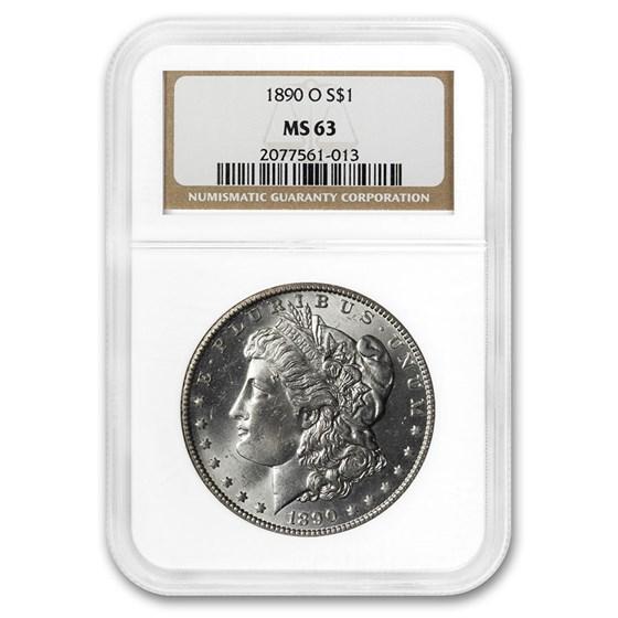 1890-O Morgan Dollar MS-63 NGC