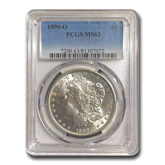 1890-O Morgan Dollar MS-63 PCGS