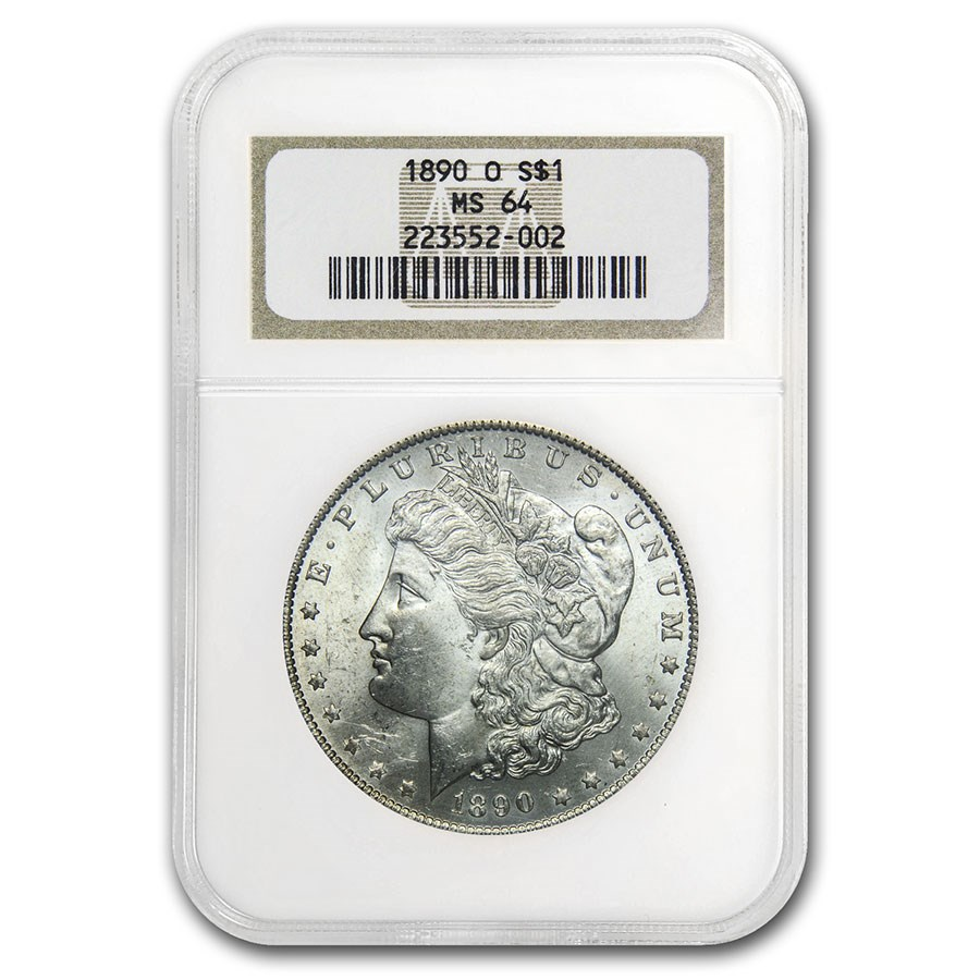 1890-O Morgan Dollar MS-64 NGC