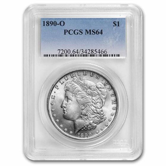 1890-O Morgan Dollar MS-64 PCGS