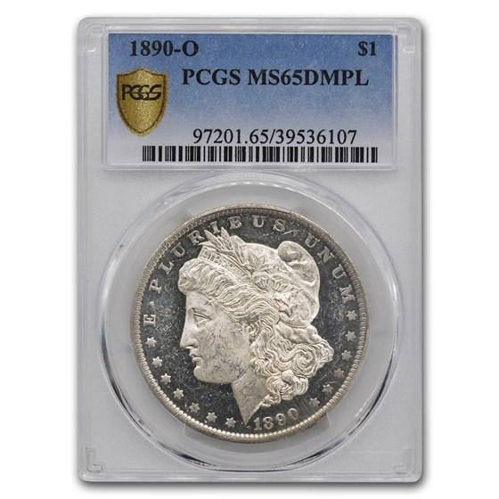 1890-O Morgan Dollar MS-65 DMPL PCGS