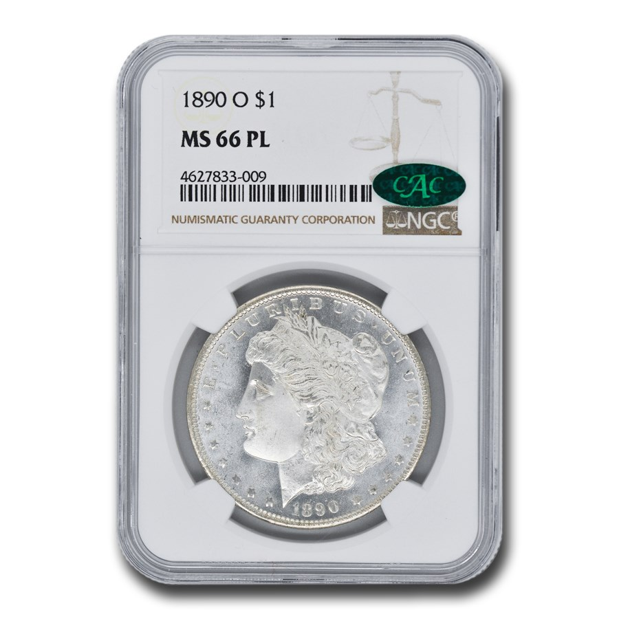 1890-O Morgan Dollar PL MS-66 NGC