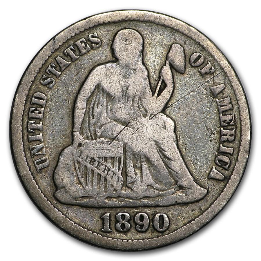 1890-S Liberty Seated Dime Fine