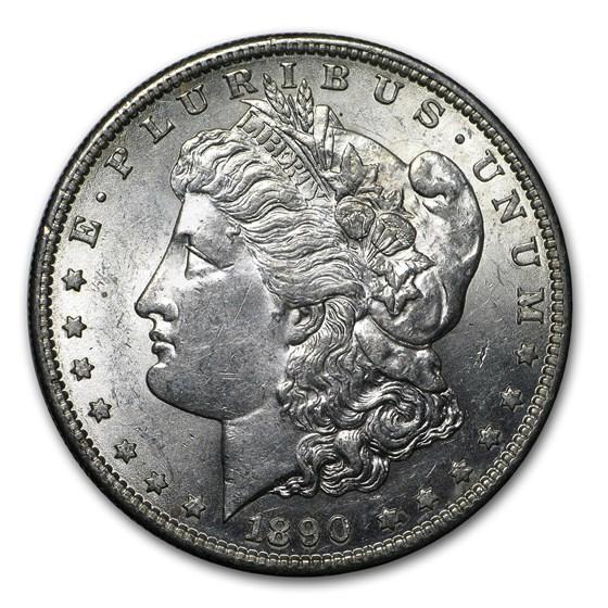 1890-S Morgan Dollar AU-58