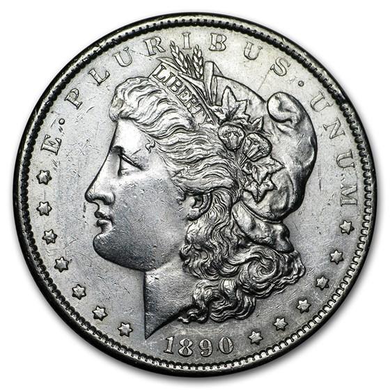 1890-S Morgan Dollar AU