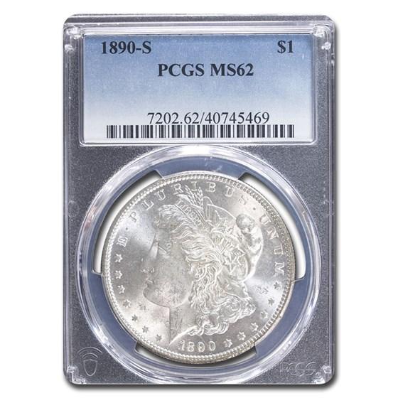 1890-S Morgan Dollar MS-62 PCGS