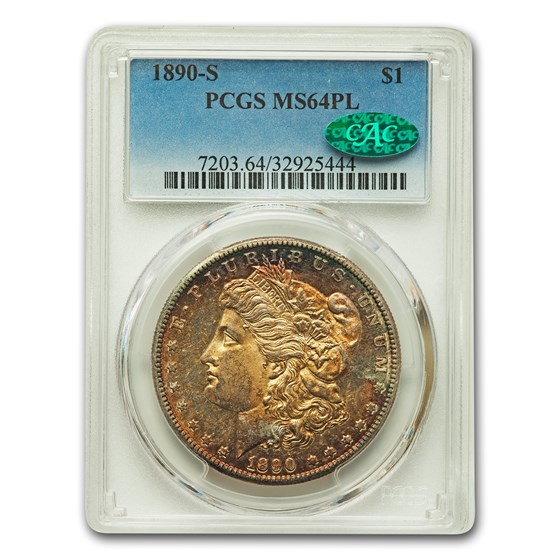 1890-S Morgan Dollar MS-64 PCGS CAC (PL)