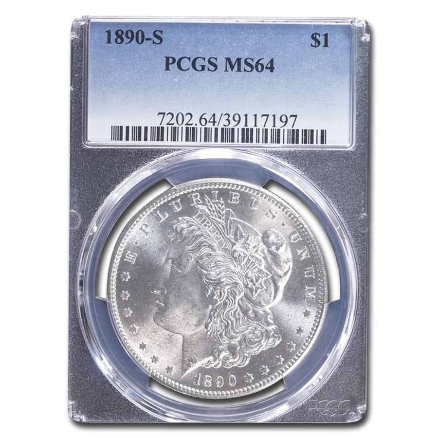 1890-S Morgan Dollar MS-64 PCGS
