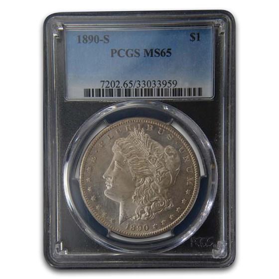 1890-S Morgan Dollar MS-65 PCGS (Toned)