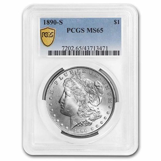 1890-S Morgan Dollar MS-65 PCGS