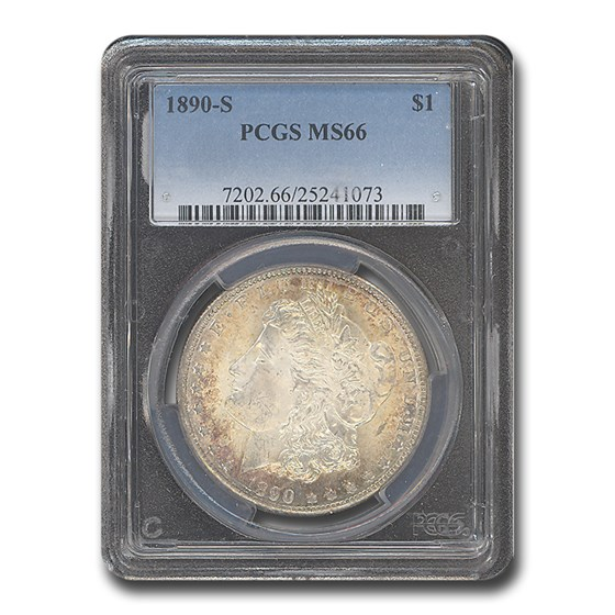 1890-S Morgan Dollar MS-66 PCGS