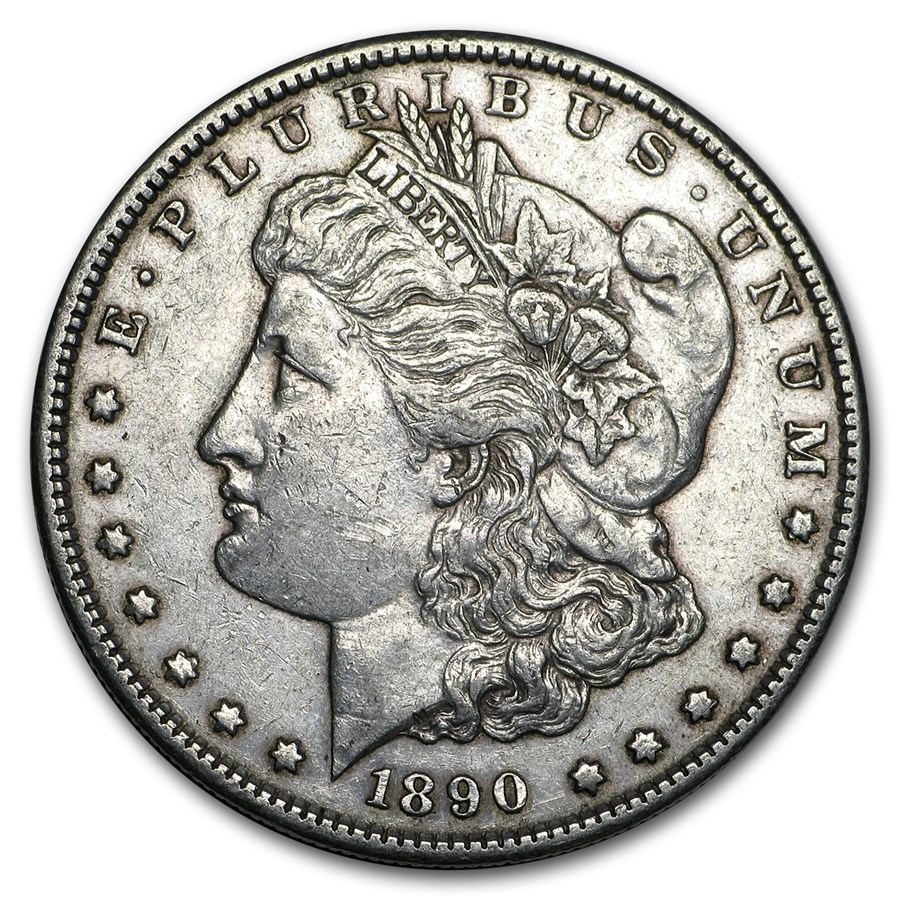 1890-S Morgan Dollar XF