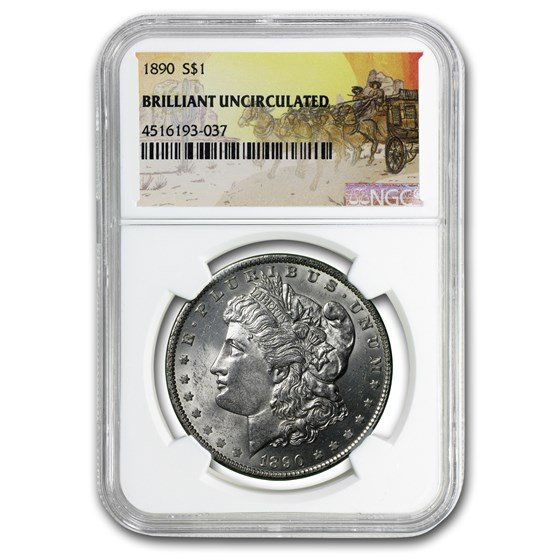 1890 Stage Coach Morgan Dollar BU NGC