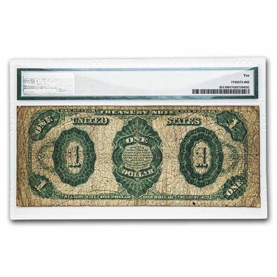1891 $1.00 Treasury Note Stanton VG-10 PMG (Fr#351)