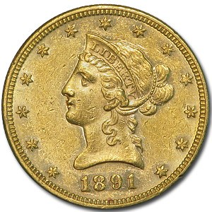 1891 $10 Liberty Gold Eagle AU